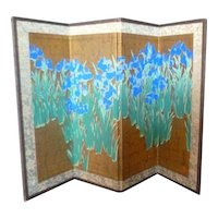 Stunning Vintage Japanese Hand Painted Room Divider Dollhouse Miniature From Museum
