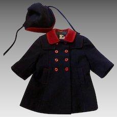 *BABY BOOM MOVIE WORN* 2t English Wool Coat & Hat Set From 1987 Movie LC Tailorware