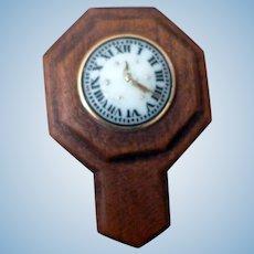 RARE Artist E. Bishop Wall Clock Dollhouse Miniature FROM MUSEUM