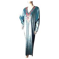 1960s OSCAR DE LA RENTA Velvet Caftan Housecoata *Movie Star Owned*