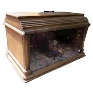 Beautiful Antique Oak Room Box Dollhouse With Light FROM MUSEUM