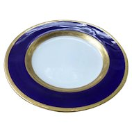 20 c.1919 Antique Cobalt Blue & Gold MINTON England 10 Dinner Plates & 10 Bread Plates