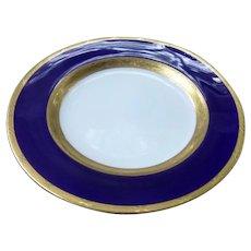 20 c.1919 Antique Cobalt Blue & Gold MINTON England 10 Dinner Plates & 10 Bread Plates