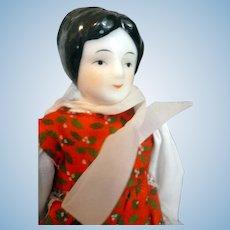 "Vintage 7.5"" China Head Dollhouse Doll From Movie Star Estate"