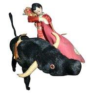 RARE 1950s Spanish Klumpe Doll Matador & Bull