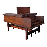 RARE Vintage Tynietoy Mt. Vernon Harpsichord Dollhouse Miniature 1/12