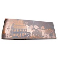 OOAK Vintage 1920s TYNIETOY Mansion Dollhouses Catalog Printing Block Photo FROM MUSEUM