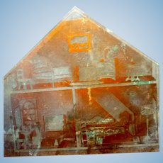 OOAK Vintage 1920s TYNIETOY Dollhouse Printing Block Photo FROM MUSEUM
