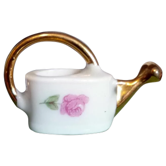 Vintage Porcelain Limoges France Watering Can Dollhouse Miniature FROM MUSEUM