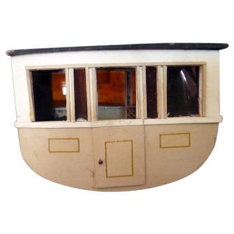 Vintage Artist Made STAGECOACH Dollhouse Miniature FROM MUSEUM