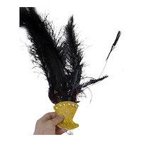 RARE Vintage 1930s Movie Wardrobe Showgirl Headpiece Hat From Movie Star Estate
