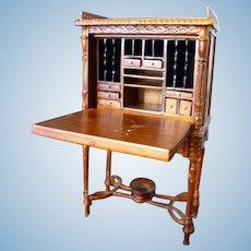 Vintage Bespaq SECRETARY DESK 1:12 Dollhouse Miniature
