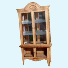 Artist Made 1:48 1/4 Scale CHINA CABINET Dollhouse Miniature