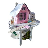 Vintage Artist Made Dollhouse Project Table 1:12 Dollhouse Miniature
