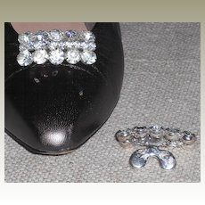 Rectangular  MUSI Shoe Clip with Crystal Austrian Crystal Rhinestones