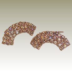 MUSI Shoe Clip – Topaz Austrian Crystal Rhinestones with Gold Plating