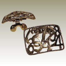 MUSI Shoe Clip - Gold Plated Metal Casting with Numbers