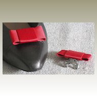 Vintage MUSI Red Faille Shoe Clip