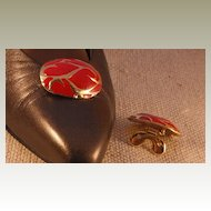 MUSI Shoe Clip – Oval Casting with Red Epoxy