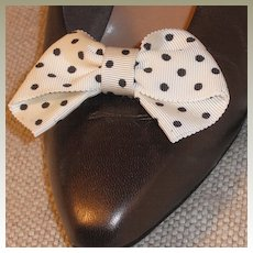 MUSI Shoe Clip –White/Black MiniDot Bow