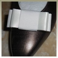 MUSI Shoe Clip White Faille / Satin