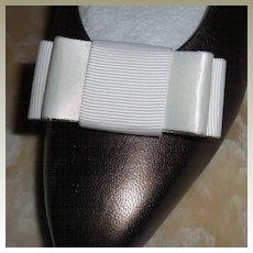 MUSI Shoe Clip White Faille / Satin