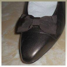 MUSI Shoe Clip Brown Faille