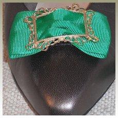 MUSI Shoe Clip - Kelly Green Faille
