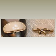 MUSI Shoe Clip – Bone Leather with Gold Plated Frame