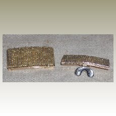 MUSI Shoe Clip with Hand Sewn Gold Lined Seed Beads