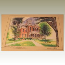 Vintage Print of Historic Court House in Georgia by Jon Haber