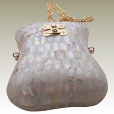 Vintage Mother of Pearl Box Bag