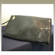 Vintage Whiting and Davis Black Metal Mesh Purse