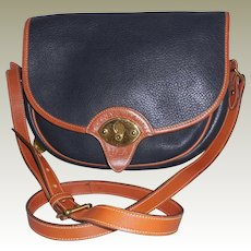 Vintage Dooney and Bourke Black Leather Shoulder Bag Cross Body Bag