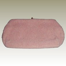 Vintage Pink Beaded Clutch Purse – Made for Saks Fifth Ave