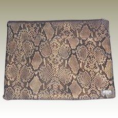 Vintage Americana by Sharif Snake Printed Nylon Purse Handbag Clutch