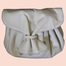 MUSI Light Bone Leather Shoulder CrossBody Purse