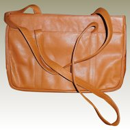Tan Leather Tote Bag Purse by MUSI