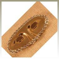 Vintage Domino Mask Belt Buckle