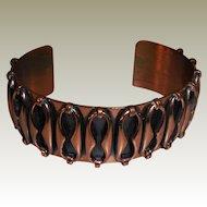 Vintage Mid Century Renoir Copper Cuff Bracelet.