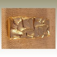 Vintage Wrinkled Rectangle Belt Buckle by MUSI