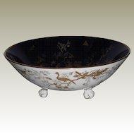 Vintage Coalport Cairo Cobalt Footed Bowl