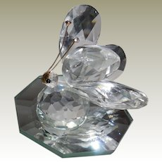 Large Swarovski Crystal Butterfly