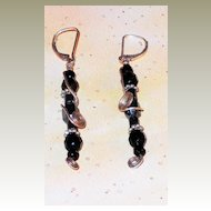 Hematite and Jet Earrings