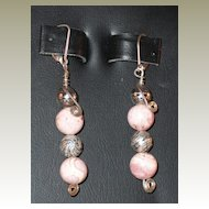 Handmade Rhodonite Earrings