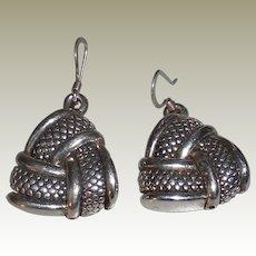 Vintage Sterling Soft Triangle Earrings Pierced