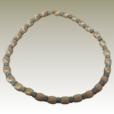 Napier Metal Beaded Necklace with Rondelles 17.25 inches