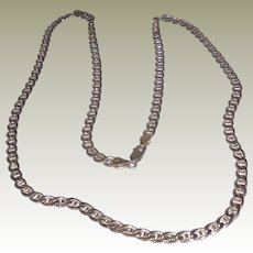 Vintage Italian Sterling Silver Chain Necklace - 30 inches
