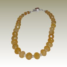 Honey Chalcedony and Citrine Necklace - Custom #2