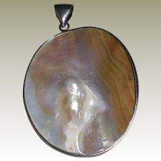 Blister Pearl Vintage Pendant set in Sterling